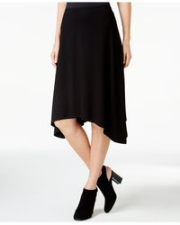 Eileen Fisher | Black Handkerchief-hem Skirt | Lyst