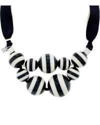 Weekend by Maxmara | Black Stripe Bauble Neckline | Lyst