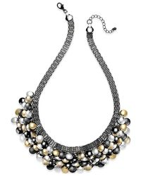 Style & Co. | Metallic Tri-tone Palette Bib Necklace | Lyst