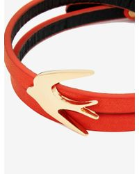 McQ - Red Swallow Mini Wrap Bracelet - Lyst