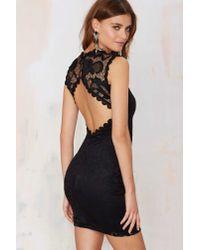 Nasty Gal - Black Mandolay Lace Dress - Lyst