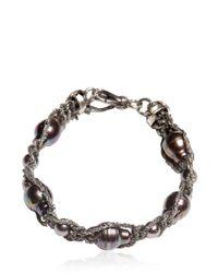 Emanuele Bicocchi | Metallic Pearl & Silver Bracelet | Lyst