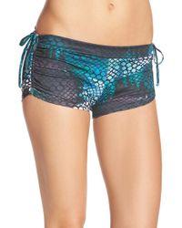 Onzie - Blue Adjustable Side Shorts - Lyst