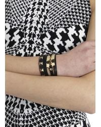 McQ | Black Razor Leather Wrap Bracelet | Lyst