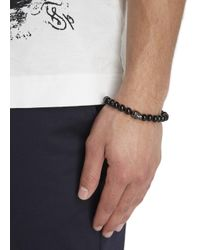 Simon Carter - Black Onyx Beaded Skull Bracelet for Men - Lyst