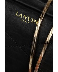 Lanvin - Black Blush Quilted Leather Shoulder Bag - Lyst
