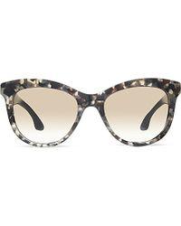 7821420cad9 Miu Miu Mu10p Marbled Square Sunglasses in Brown - Lyst