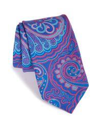 Ted Baker - Blue 'mogador Paisley' Cotton & Silk Tie for Men - Lyst