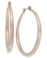 INC International Concepts | Metallic Inc International Concept Rose Gold-tone Small Hoop Earrings | Lyst