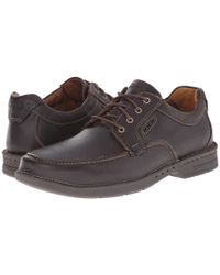 Clarks - Brown Stratton Time Casual Oxfords for Men - Lyst