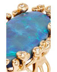 Lucifer Vir Honestus - Blue One Of A Kind Black Opal Parrucchino Ring - Lyst