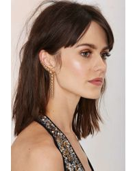 Nasty Gal - Multicolor Belle Of The Ball Cuff Earring - Lyst