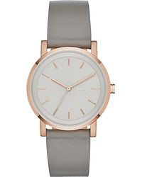DKNY - Gray Ny2341 Soho Rose Gold-plated And Leather Watch - Lyst