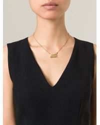 Marc By Marc Jacobs | Metallic 'don't Panic' Necklace | Lyst