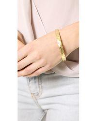 Madewell - Metallic Half Dome Cuff Bracelet - Vintage Gold - Lyst