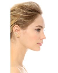 Joanna Laura Constantine - Metallic Wing Crystal Earrings - Gold/clear - Lyst