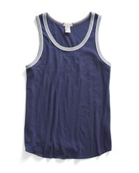 Todd Snyder | Piped Tank Top In Mast Blue for Men | Lyst