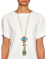 Etro - Multicolor Multi-stone Pendant Necklace - Lyst