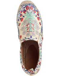 Marc By Marc Jacobs   White Floral print Washed leather Espadrilles   Lyst