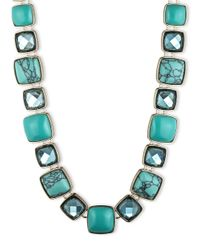 Anne Klein | Blue Goldtone Turquoise Necklace | Lyst