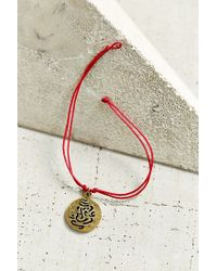 Urban Outfitters | Red Guardian Charm Bracelet | Lyst