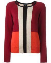 Etro - Red Colour Block Sweater - Lyst