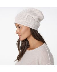 James Perse Natural Cashmere Cable Knit Beanie