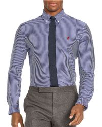 Polo Ralph Lauren | Blue Striped Cotton Sportshirt for Men | Lyst