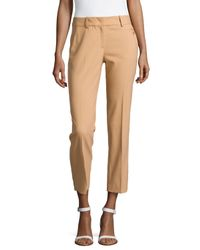 Michael Kors | Natural Samantha Skinny Wool Ankle Pants | Lyst