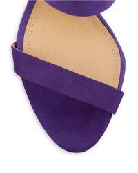 Schutz | Purple Dubia Suede Sandal Heels | Lyst
