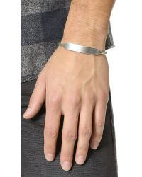 Giles & Brother | Metallic Id Cuff for Men | Lyst