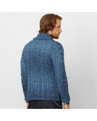 Denim & Supply Ralph Lauren - Blue Discharge-Print Crewneck for Men - Lyst