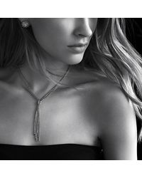 David Yurman   Metallic Starburst Earrings With Diamonds In 18k Gold, 18mm   Lyst