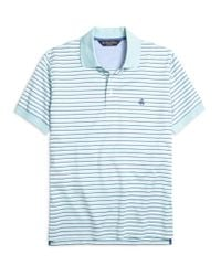 Brooks Brothers - Blue Slim Fit Variegated Stripe Polo Shirt for Men - Lyst
