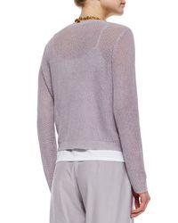 Eileen Fisher - Gray Organic Linen Snap-front Jacket - Lyst