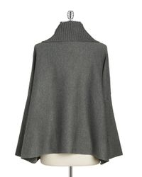 Calvin Klein - Gray Knit Sweater Cape - Lyst