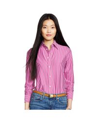 Polo Ralph Lauren - Pink Interlock Knit Oxford Shirt - Lyst