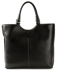 Tod's - Black Classic Tote Bag - Lyst