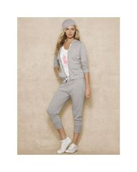 Ralph Lauren - Gray Pink Pony Hooded Jacket - Lyst