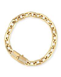 Ivanka Trump | Metallic 18k Gold Moderne Diamond Chain Bracelet | Lyst