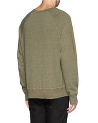 Acne Studios - Green 'college Melange' Sweatshirt for Men - Lyst