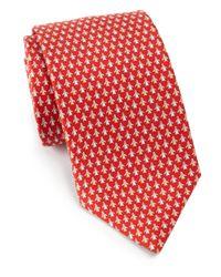 Ferragamo | Red Snail Print Silk Tie for Men | Lyst