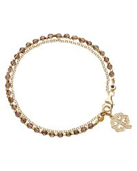 Astley Clarke | Metallic Biography Four Leaf Clover 18ct Gold Vermeil Friendship Bracelet | Lyst
