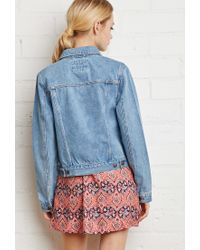 Forever 21 - Blue Classic Denim Jacket - Lyst