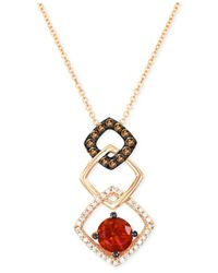 Le Vian | Pink Chocolatier Fire Opal (1 Ct. T.w.) And Diamond (1/4 Ct. T.w.) Pendant Necklace In 14k Strawberry Rose Gold | Lyst