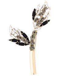 Marni   Metallic Floral Brooch   Lyst