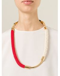 Marni - Multicolor Contrasting Panel Necklace - Lyst