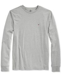 Tommy Hilfiger | Gray Eric Long-sleeve T-shirt for Men | Lyst