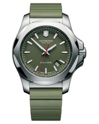 Victorinox | Green 'i.n.o.x.' Rubber Strap Watch for Men | Lyst