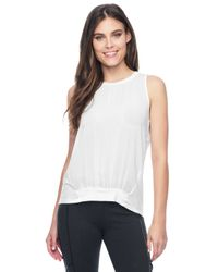 Splendid | White Mixed Media Tank | Lyst